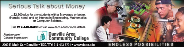 Serious Talk About Money, call 217-44-DACC for details